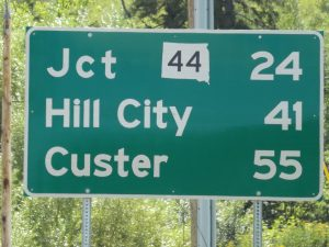 Black Hills hwy 385 Deadwood sign